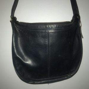 Vintage Coach Leather Crossbody Bag Navy